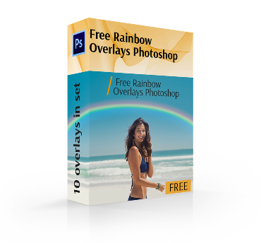 rainbow overlay photoshop free cover box