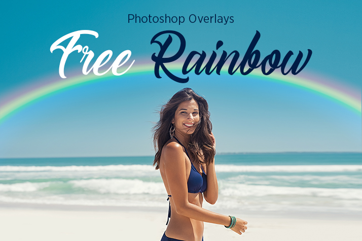 rainbow overlay photoshop free poster girl