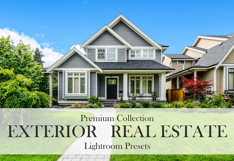 real estate lightroom presets exterior premium collection banner