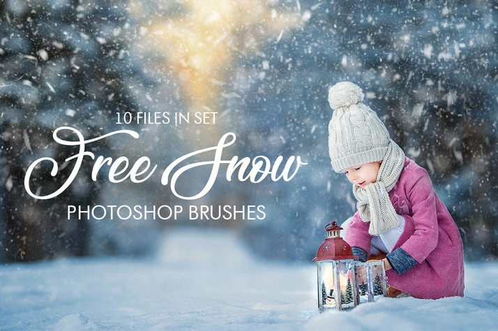 free photoshop Snow brushes free poster