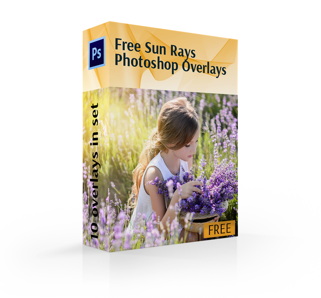 sun ray overlay cover box girl in flowers