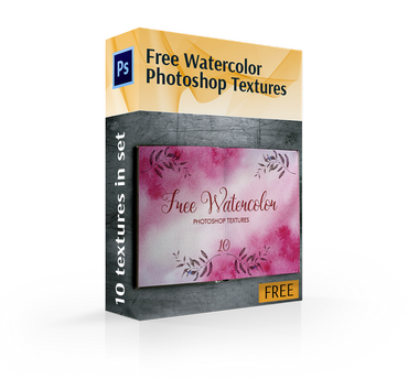 free watercolor texture photoshop cover box