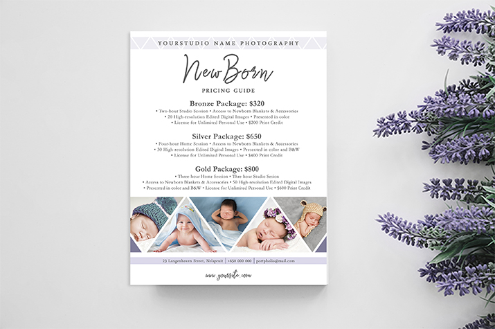 newborn photographer pricing