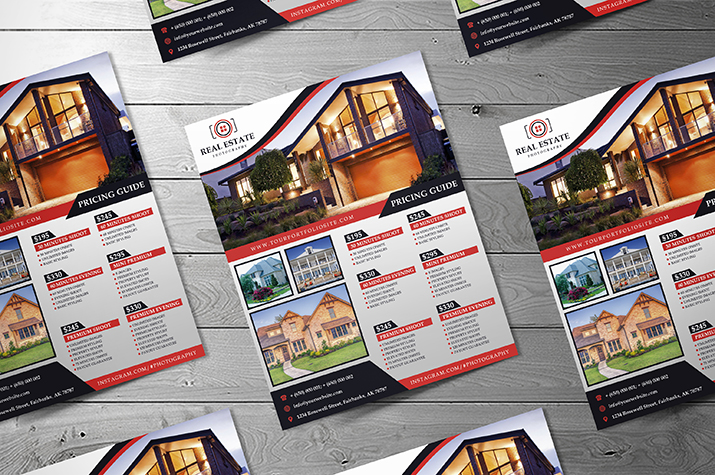 real estate photographer pricing template