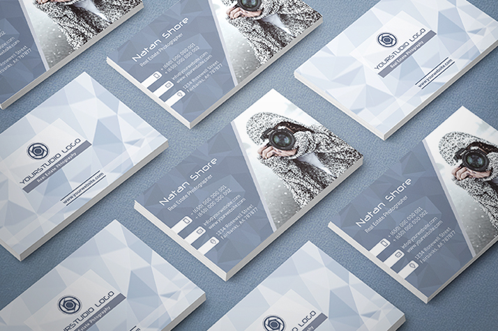 Real estate photography business cards 20 free designs mockup card photo 3 download free real estate photography business card reheart Images
