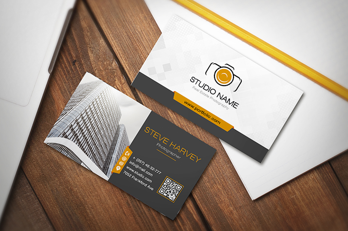 Real estate photography business cards 20 free designs mockup card photo 12 download free real estate photography business card reheart Images