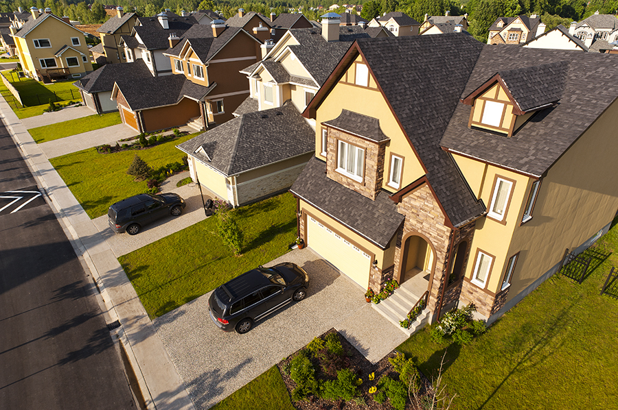 aerial drone photography house