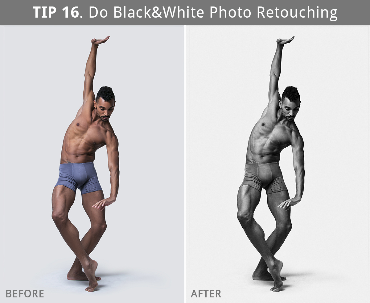 black and white retouching