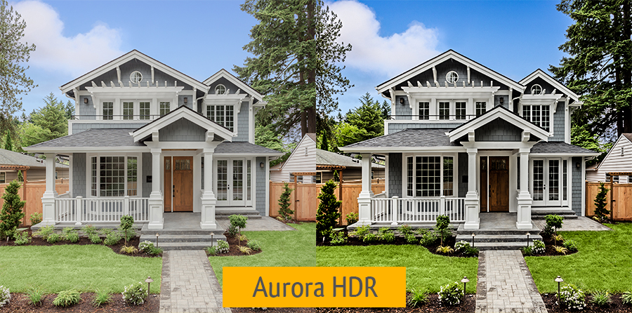 exterior photography hdr aurora