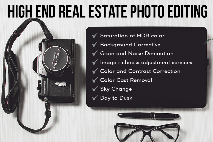 high end real estate photography editing