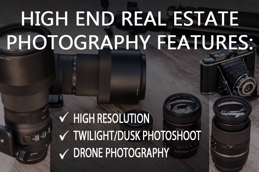 high end real estate photography features