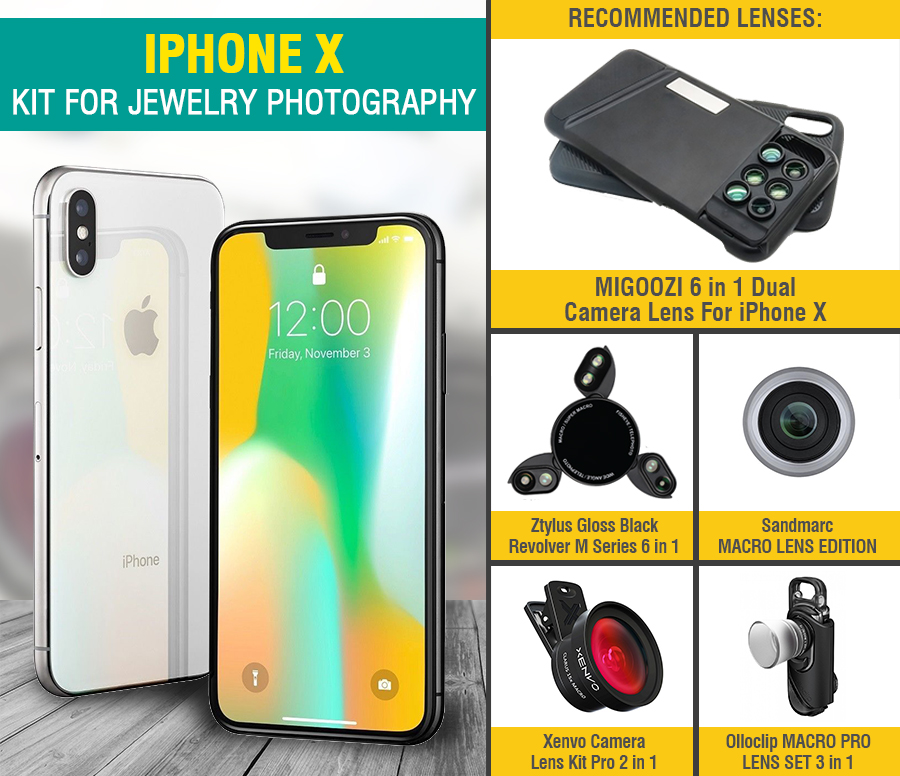 iphone photography kit for jewelry photography
