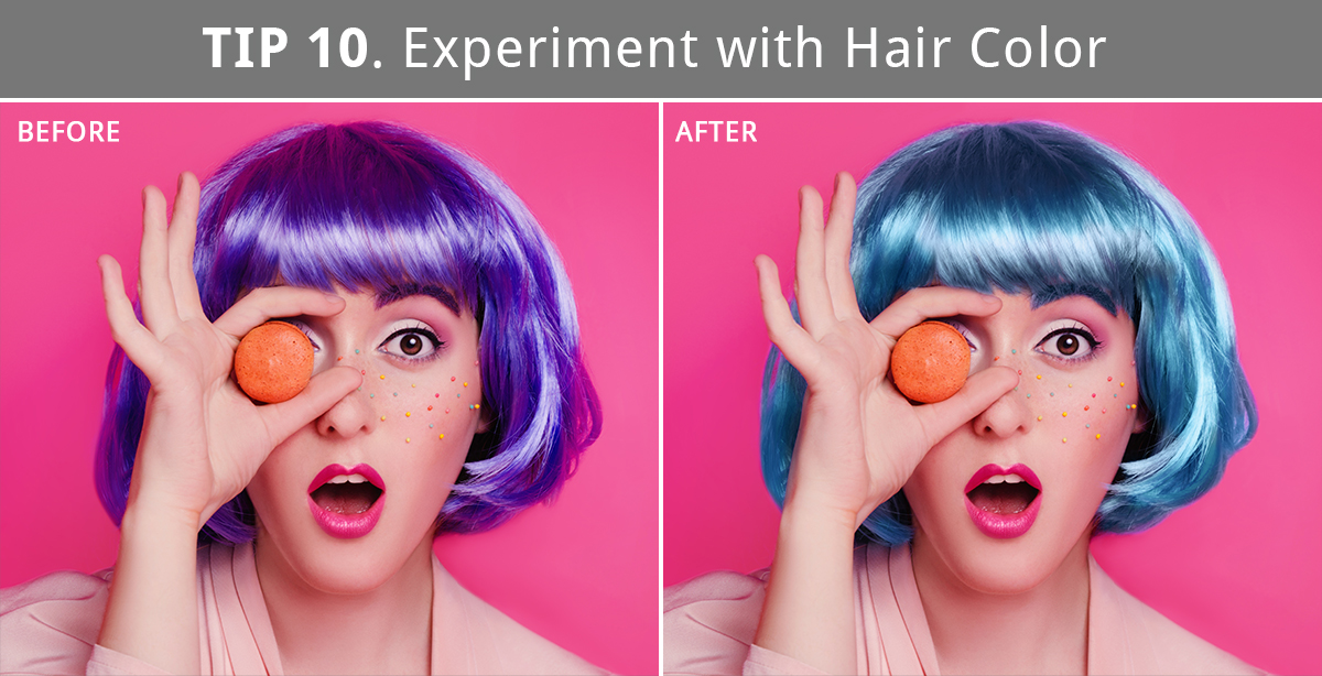 hair retouching in photoshop