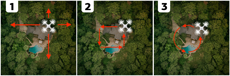 real estate aerial photography directions