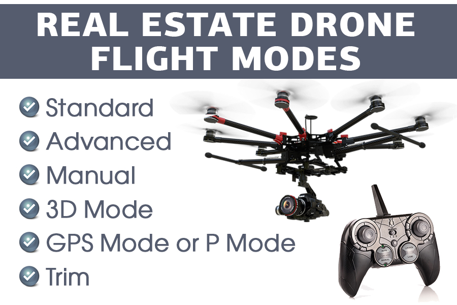 real estate aerial photography flight modes