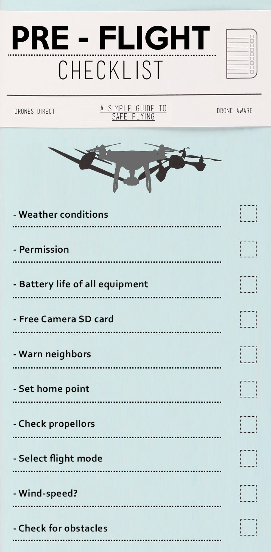real estate aerial photography preparations list