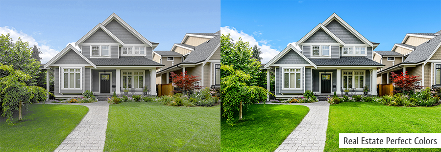 real estate photo before after