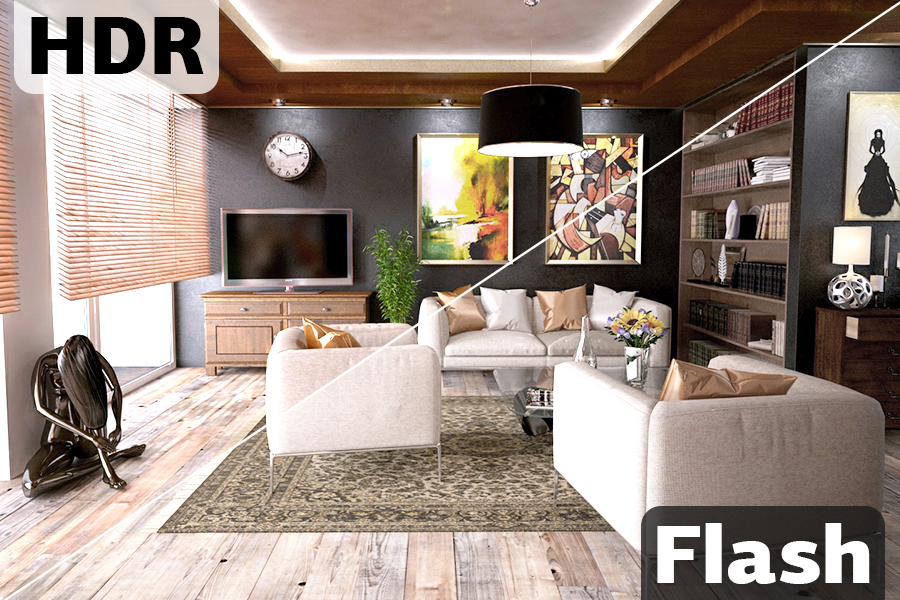 real estate photography hdr vs flash