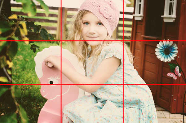 Example of rule of thirds - girl`s photo