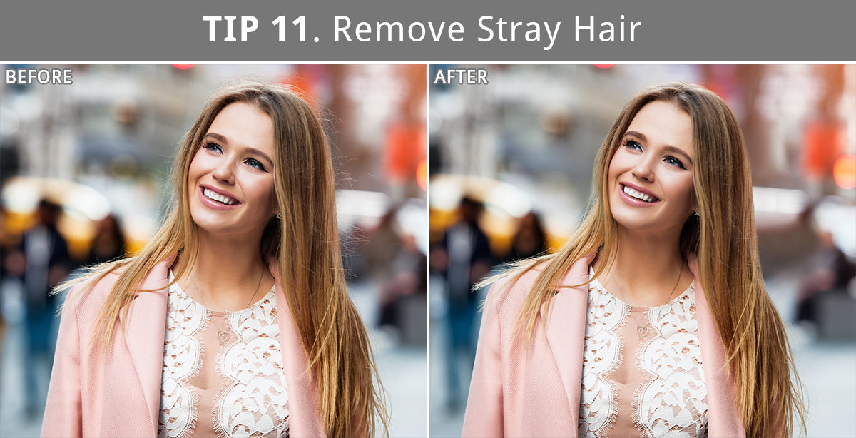 stray hair removing in photoshop