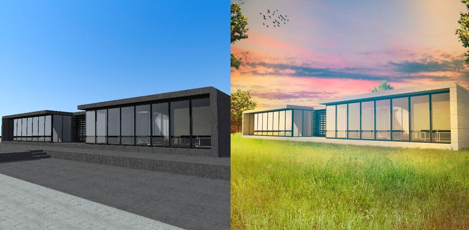 Architectural rendering Photoshop tricks