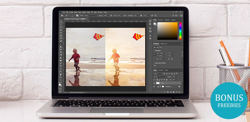 How to make a light leak effect in Adobe LR