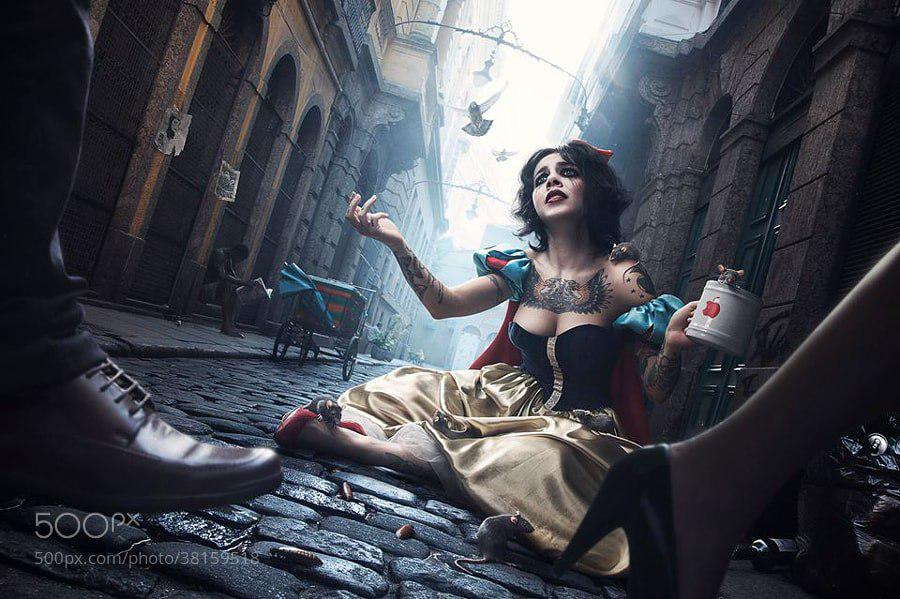 Disney fine art photography: the characters in the shape of real people