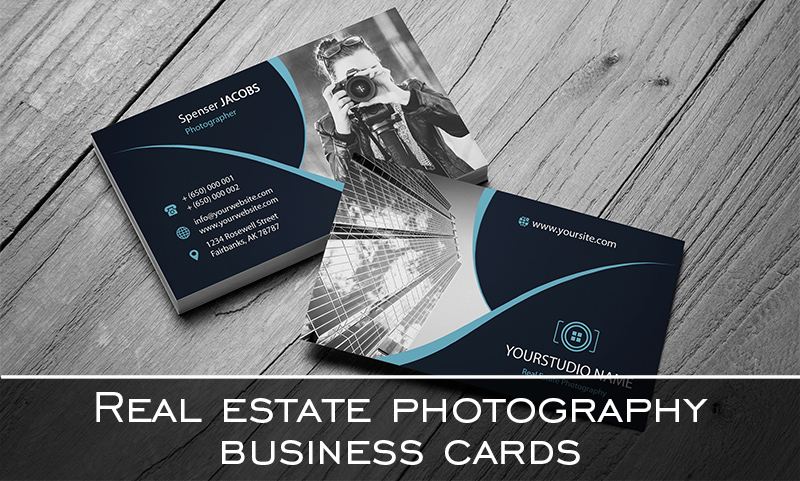 Real estate photography business cards 20 free designs 20 free real estate photography business cards accmission