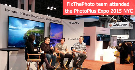 FixThePhoto team attended the PhotoPlus Expo 2015 NYC