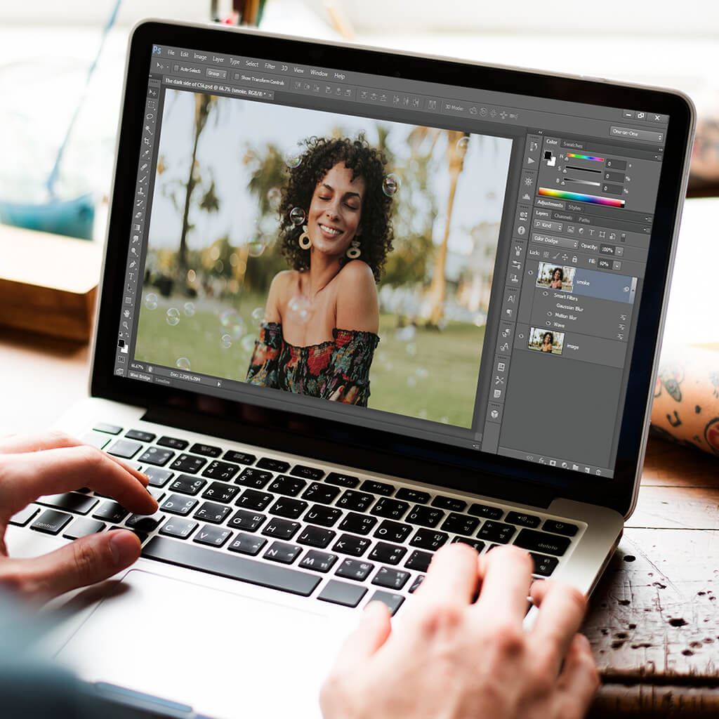 Create a composite with layer masks on your iPad