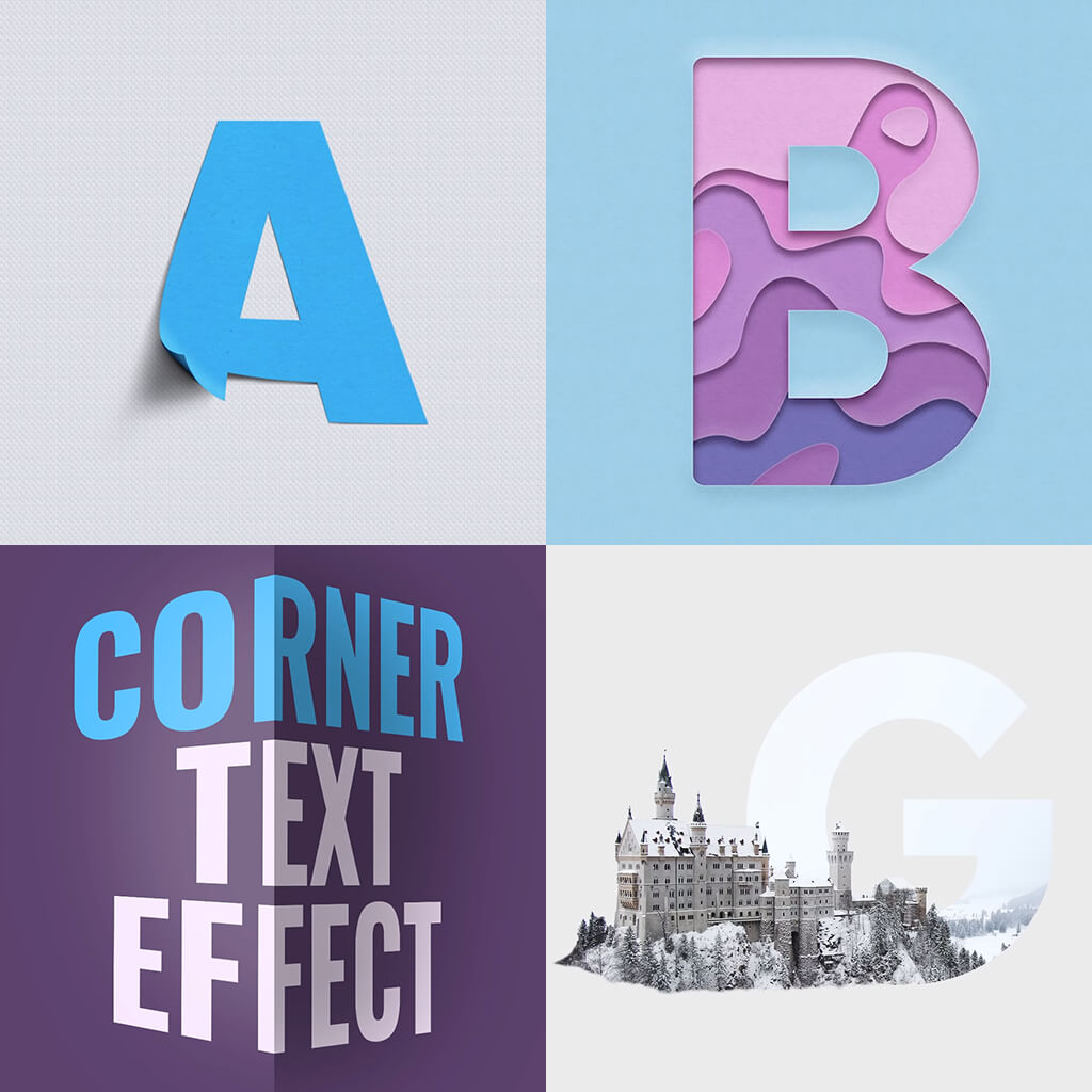 5 Courses Pro Text Styles Photoshop 365 Lessons Titles Art 2020 CC Tutorials