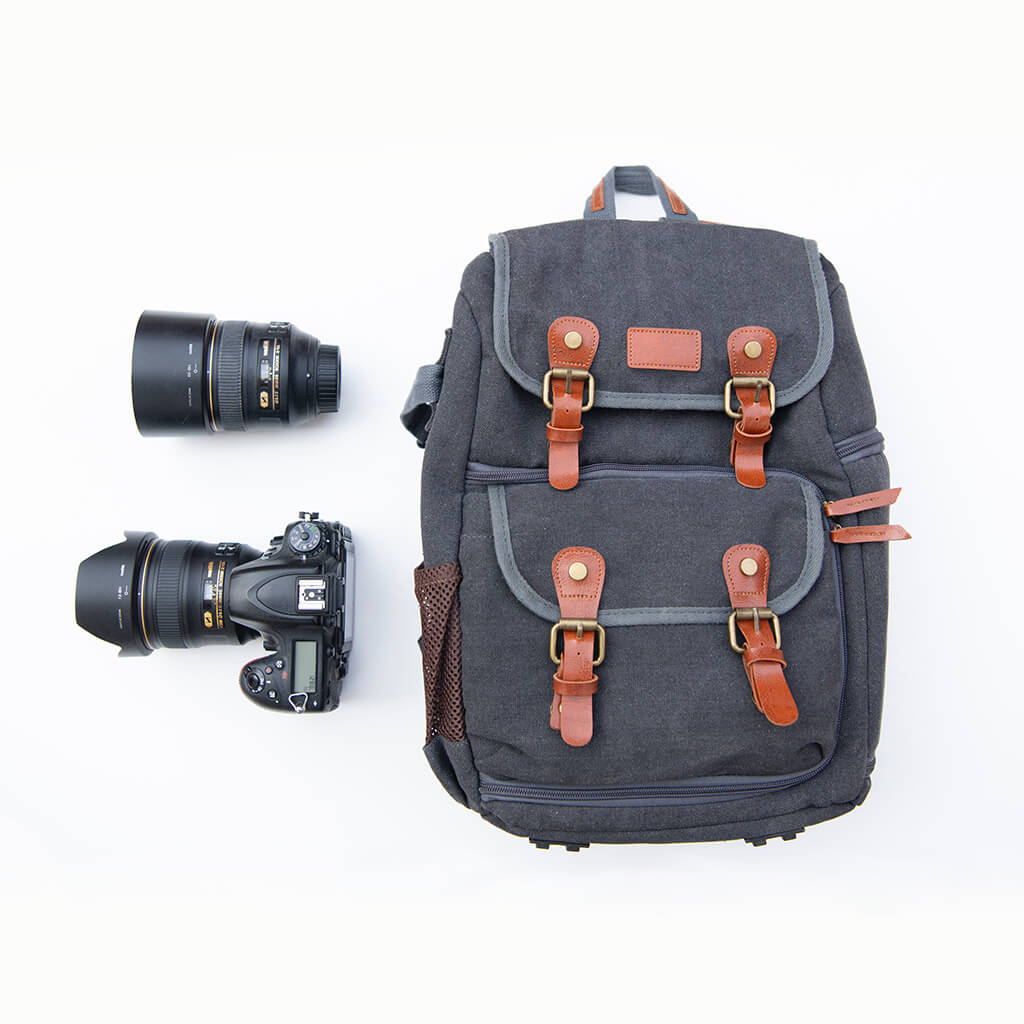 Camera Backpack Waterproof Canvas Professional Camera Bag with Modular /& Waterproof Rain Cover Tripod Holder,Compatible with Many DSLRs Color : Black2