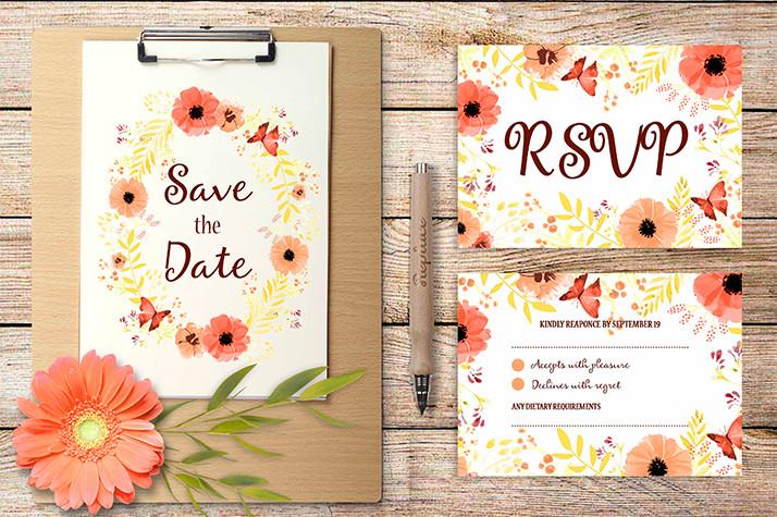 Photographic Wedding Invitations: Wedding Invitation Template Photoshop