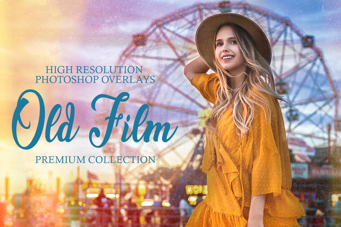 30 Pro Old Film Overlay for Photoshop | Old Film Overlay Photoshop